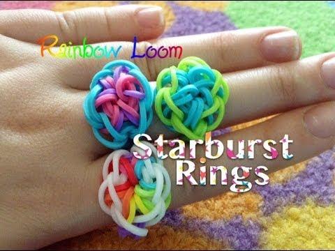 easy rainbow loom starburst rings youtube