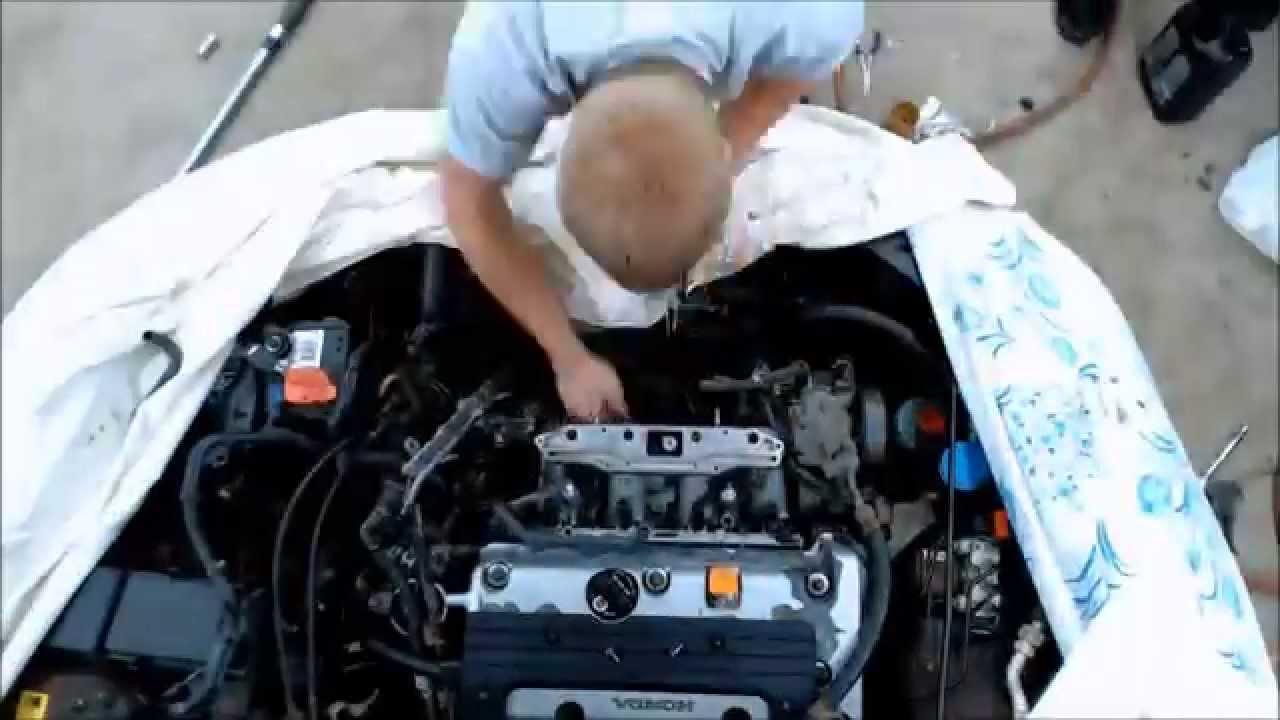 2003 honda accord 2 4l complete intake removal and installation rh youtube com 2003 honda accord air intake diagram