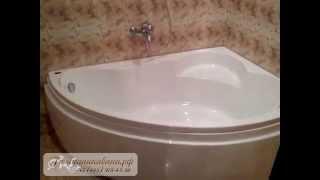 видео Ванная акриловая с гидромассажем: устройство, преимущества и монтаж