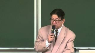 京都大学 特別シンポジウム「グローバル人材と日本語」-日本の国際化を担う人材が磨くべき言語能力とは- 開会挨拶:西山 教行(京都大学人間・環境学研究科 教授)2014年1月25日