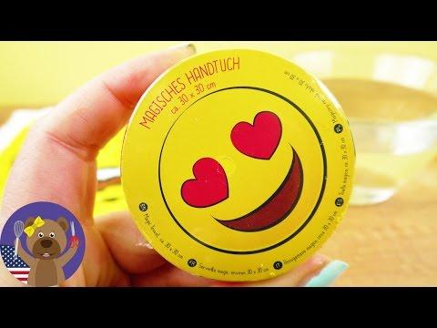 MAGIC HAND TOWEL😍 with Heart Eyes Emoji - Cute Gift Idea