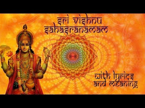 Sri Vishnu Sahasranamam Full - With Lyrics & Meaning - 1000 Names of Vishnu - Smt.R.Vedavalli