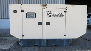 Used-Triton / Cummins 105 kW standby generator set - Stock# 46428001