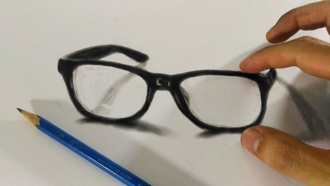 How to draw 3d eye glasses 3d trick art youtube how to draw 3d eye glasses 3d trick art ccuart Gallery