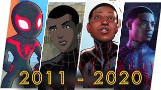 Miles Morales Spider Man Evolution in Cartoons, Games & Movies (2020)