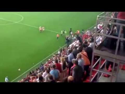 Standard fans accidents vs zulte waregem 19/10/14