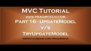 Part 16  Difference between updatemodel and tryupdatemodel