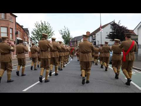 UVF Regimental Band  - Memorial Parade East Belfast 11/06/16