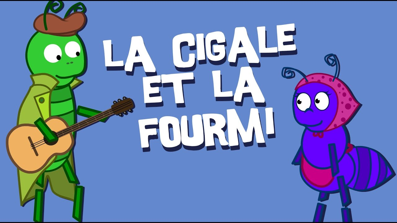La cigale et la fourmi version moderne fables de la - Dessin cigale et fourmi ...