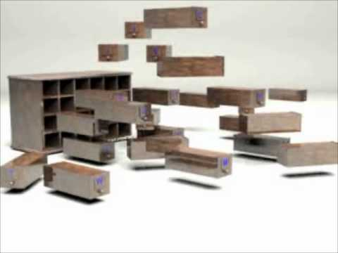 Charlotte Semrau | Chest of Blocks with Interchangeable Decorative Fronts