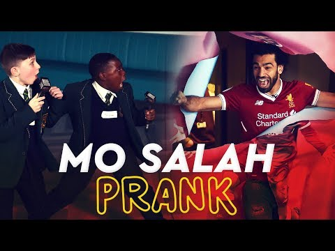 Mo Salah bursts through wall to surprise kids | KOP KIDS PRANK