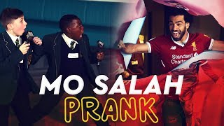 vuclip Mo Salah bursts through wall to surprise kids | KOP KIDS PRANK