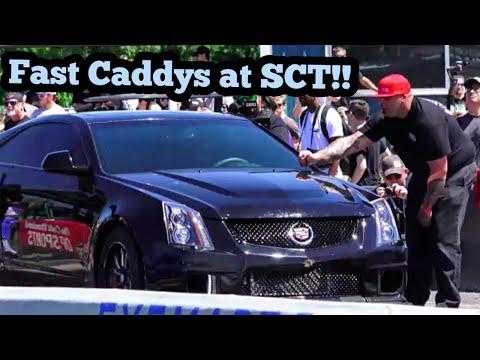 Fast Cadillacs At Street Car Takeover In Oklahoma!