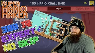 300 IQ EXPERT NO SKIP - Super Mario Maker - You call this EXPERT?!