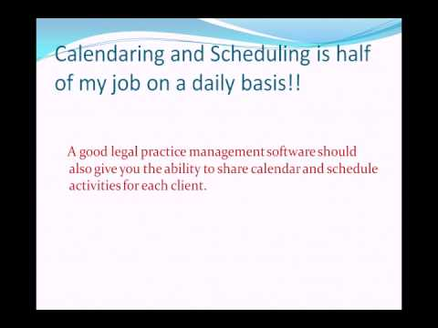 Why does your law firm need a Legal Practice Management softwarE.avi