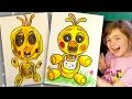 Как нарисовать Чику из 5 ночей с фредди / How to draw Chica FNAF