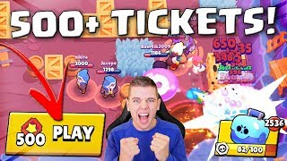 500+ TICKETS OPMAKEN IN BRAWL STARS!!