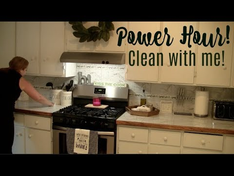 Power Hour | Speed clean with me!