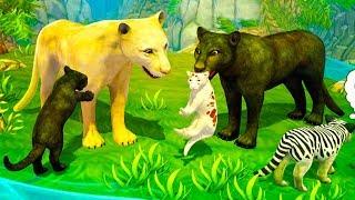 СИМУЛЯТОР ДИКОЙ КОШКИ #19 Новый СИМ Семьи Пумы как маленький котенок #ПУРУМЧАТА