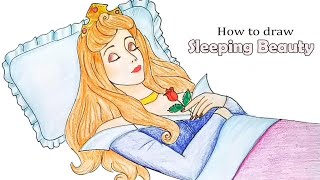 How to draw Sleeping Beauty... step by step