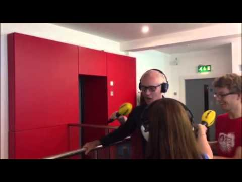 Ray D'Arcy attempts to Unicycle