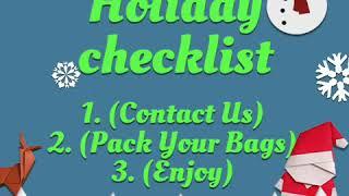 Holiday Checklist