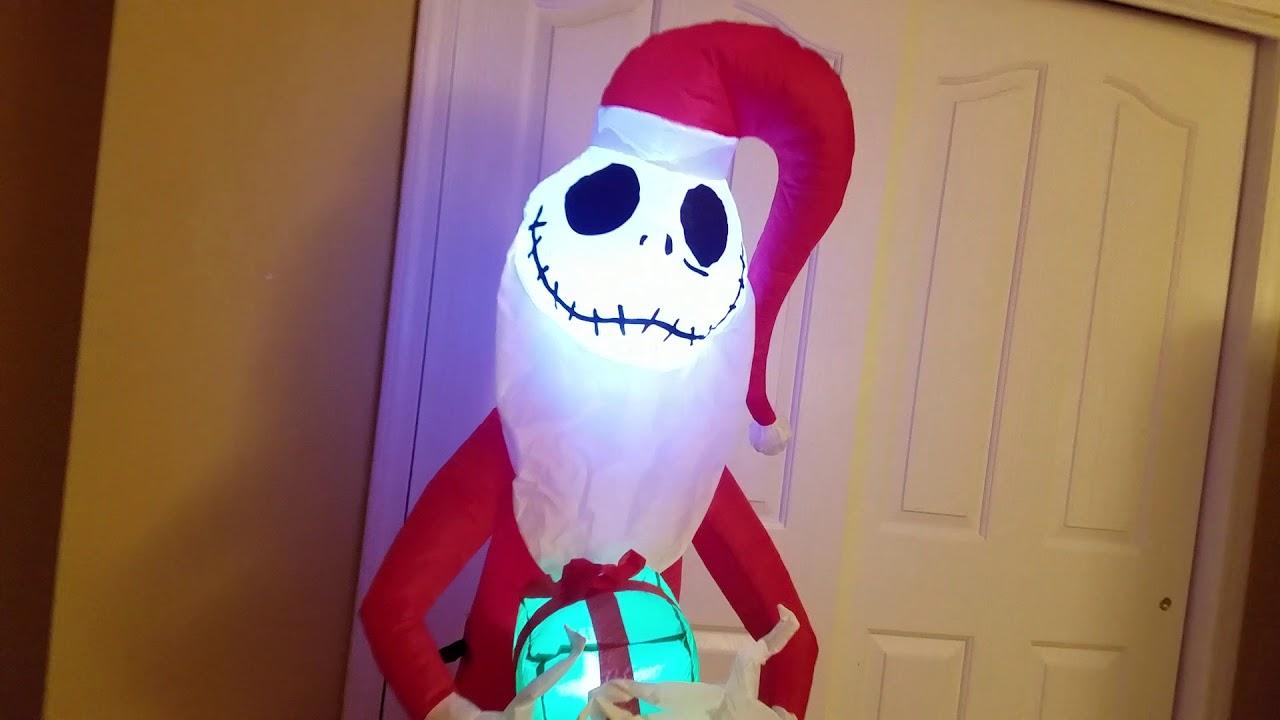 5.5 FT SANTA JACK SKELLINGTON NIGHTMARE BEFORE CHRISTMAS  INFLATABLE AIRBLOWN