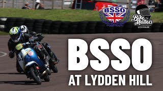 SCOOTER RACING, VINTAGE MOTORCYCLES AND SIDE CARS AT LYDDEN HILL RACE TRACK!
