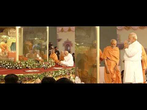 Narendra Modi 's speech at BAPS Sarangpur on Pramukh Swami