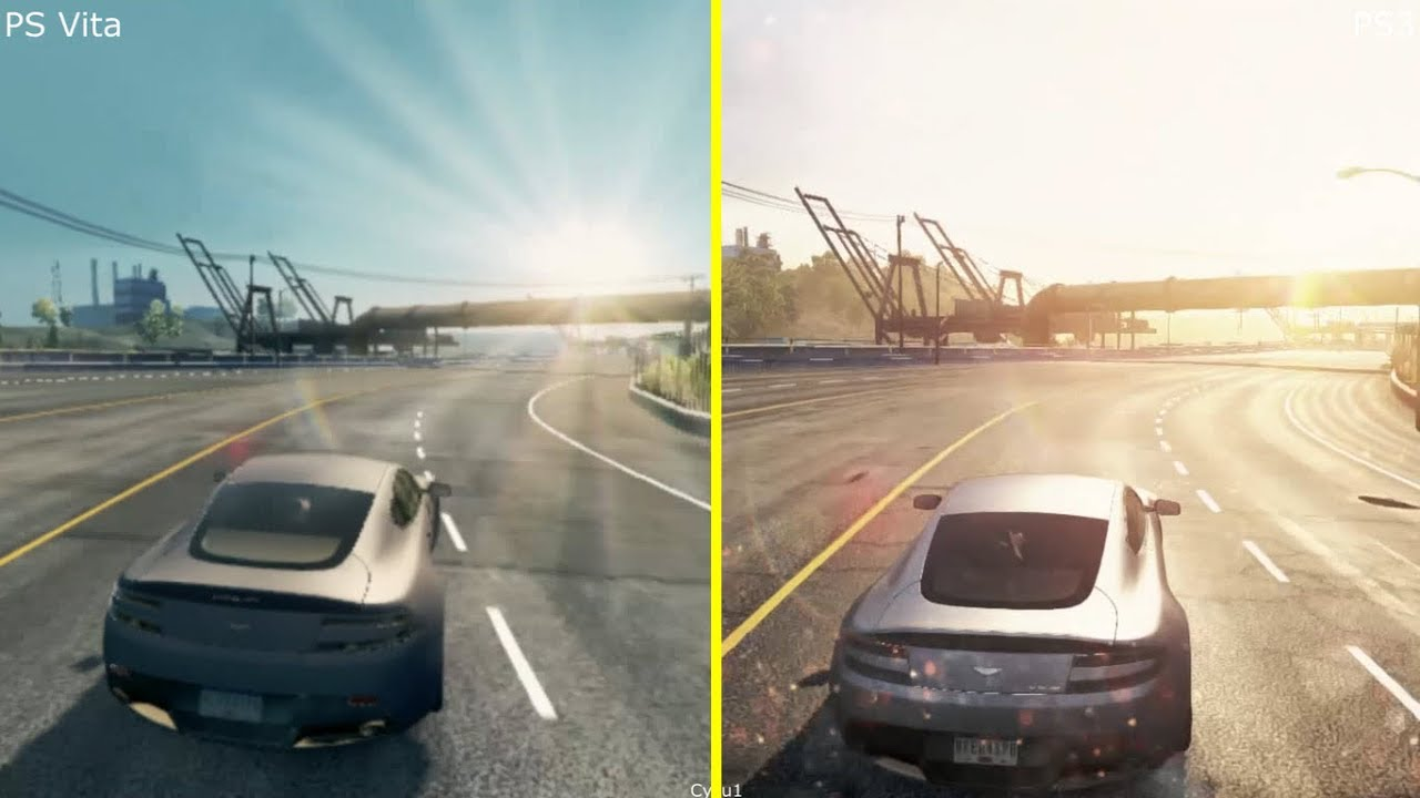 Need For Speed Most Wanted PS Vita vs PS3 Graphics Comparison