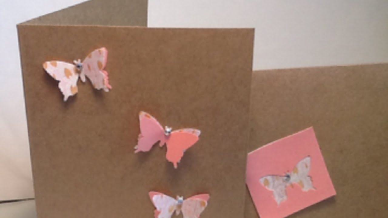 Create a Sweet 3D Butterfly CardCraftsGuidecentralYouTube