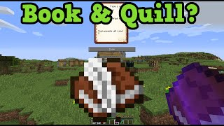 Minecraft Xbox 360 + PS3 - Book and Quill Explained