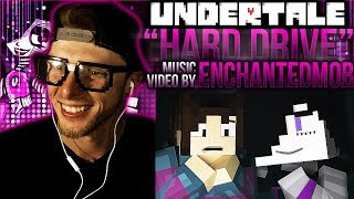 "Vapor Reacts #404 | MINECRAFT UNDERTALE SONG ""Hard Drive"" Music Video by EnchantedMob REACTION!!"