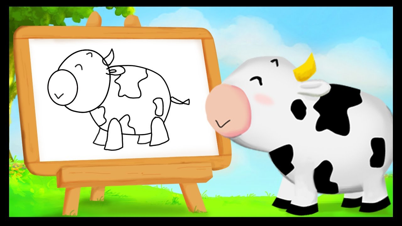 Comment dessiner une vache youtube - Dessiner une vache ...