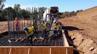 Pouring a Bridge Footing