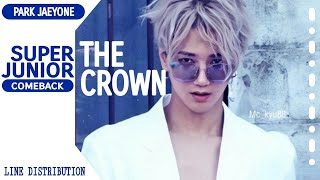 SUPER JUNIOR- THE CROWN [Line Distribution Color Coded] By Park Jaeyone