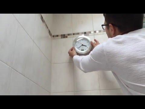 Badezimmeruhr mit Saugnapf von TechGalerie.de - unboxing Video - YouTube