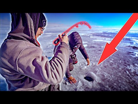 EARLY Ice Fishing A REMOTE TROPHY Lake!!! (STUCK FOR HOURS)