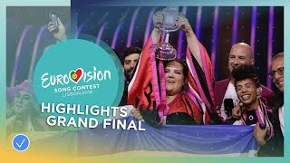 Highlights of the Grand Final of the 2018 Eurovision Song Contest