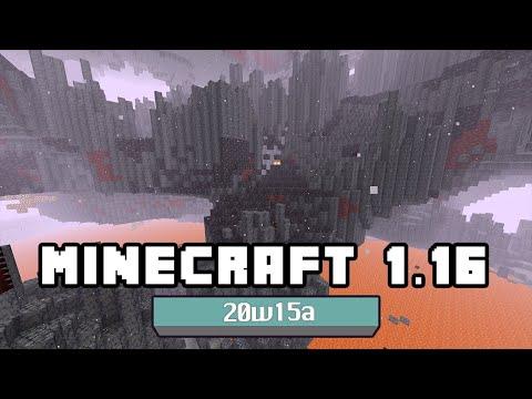 Minecraft 1.16 – Snapshot 20w15a – Nuevo Bioma (basalt Deltas), Nuevos Bloques (blackstone) Y Más