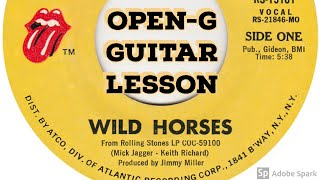 """""""Wild Horses"""" Lesson in open-G tuning"""