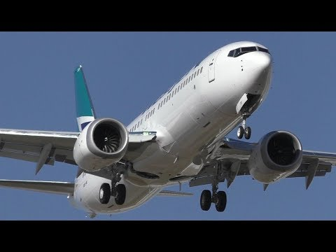 DELIVERY FLIGHT! WestJet 737 MAX 8 [C-FRAX] Landing at Calgary Airport ᴴᴰ