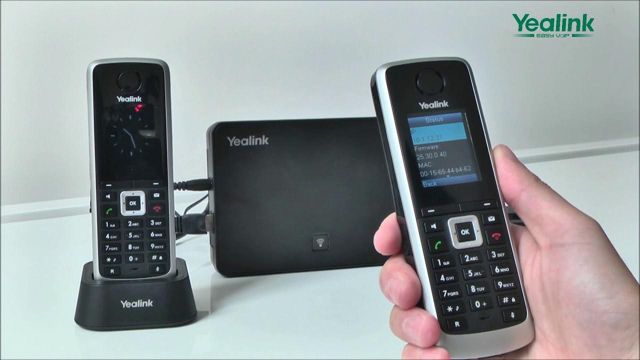 W52P DECT IP Phone - Register Account