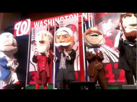 "New Racing President ""Bill"" Taft debuts at NatsFest 2013 Mayor Vincent Gray Washington Nationals"