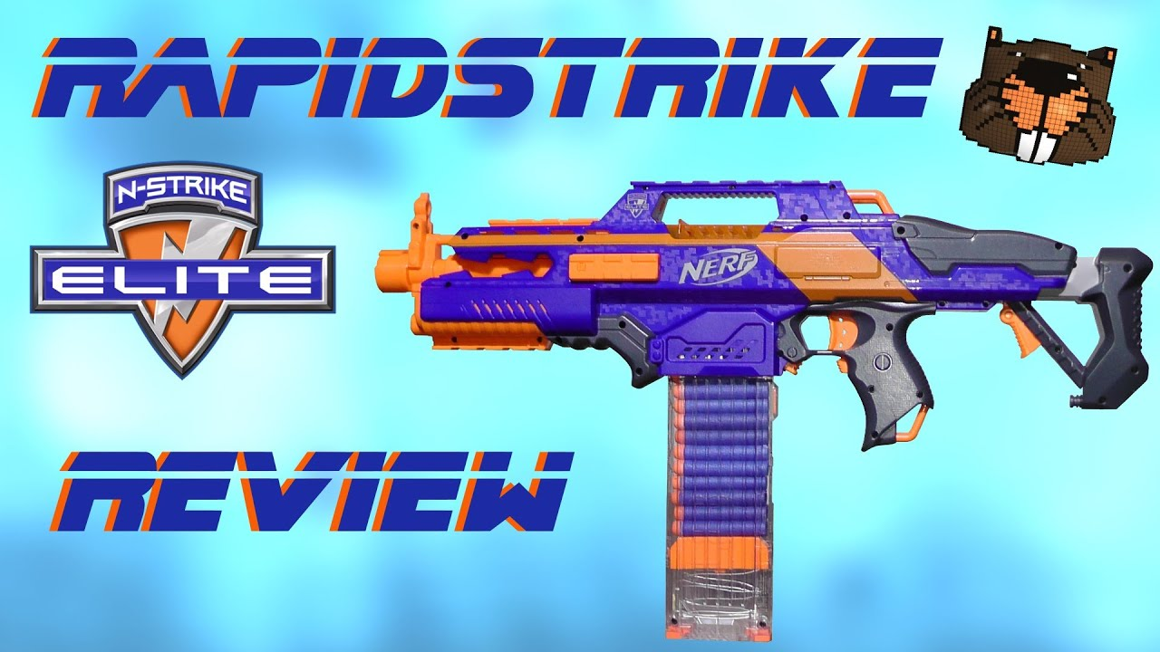 Review Nerf Elite Rapidstrike Magicbiber Deutsch Youtube