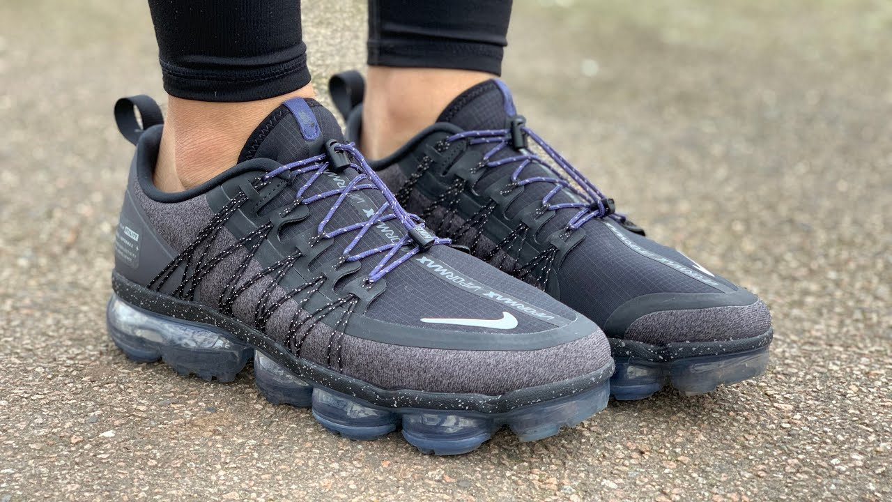 f362d2689756 Women s Nike Air VaporMax Run Utility ( Black Reflect Silver Thunder Grey Sanded  Purple)