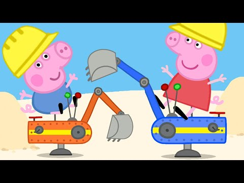Peppa Pig Official Channel  | Diggerland Amusement Theme Park for Kids with Peppa Pig