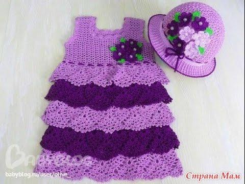 Crochet baby dress| lacy crochet baby dress pattern 98 - YouTube