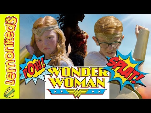 Wonder Woman movie Challenge - deflecting bullets with bracelets - LemonReds Season 2 Episode 3