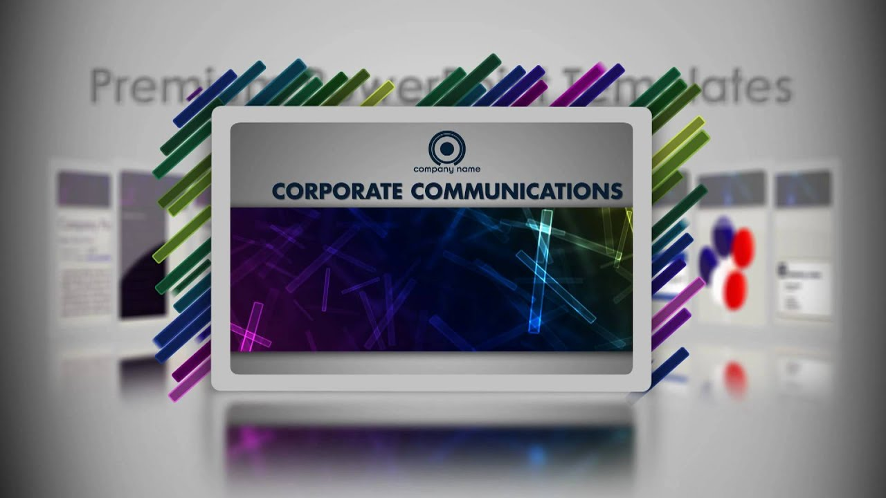 Digital Signage Powerpoint Templates Corporate